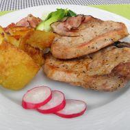 Grilovaná vepřová kotleta se slaninou recept