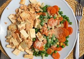Tofu s vajíčkem a zeleninou pode Eduarda recept