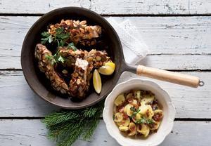 Kapr na povidlech a mandlích s teplým bramborovým salátem ...