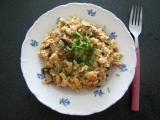 Sója s houbami a rýží recept