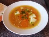 Hrstková polévka se zeleninou recept