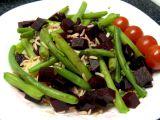 Červená řepa s fazolovými lusky a rýží recept