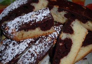 Dvoubarevný kefírový koláč / bábovka