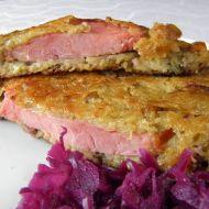 Bramborovo-čočkové placky s uzeným masem recept