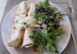Cottage syr enchilada (tortilla) recept