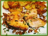 Rychlý losos s vlašskými ořechy recept