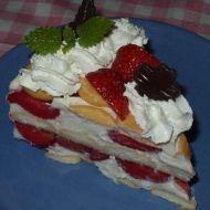 Nepečený dort s kompotem recept