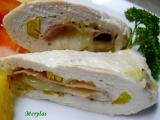 Dietní kuřecí rolka se šunkou, pórkem a tvarůžkem recept ...