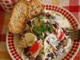 Rybí salát s fazolemi recept