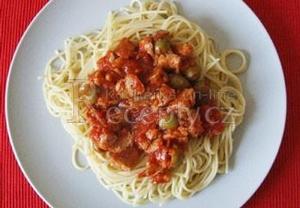 Špagety se sojovým masem
