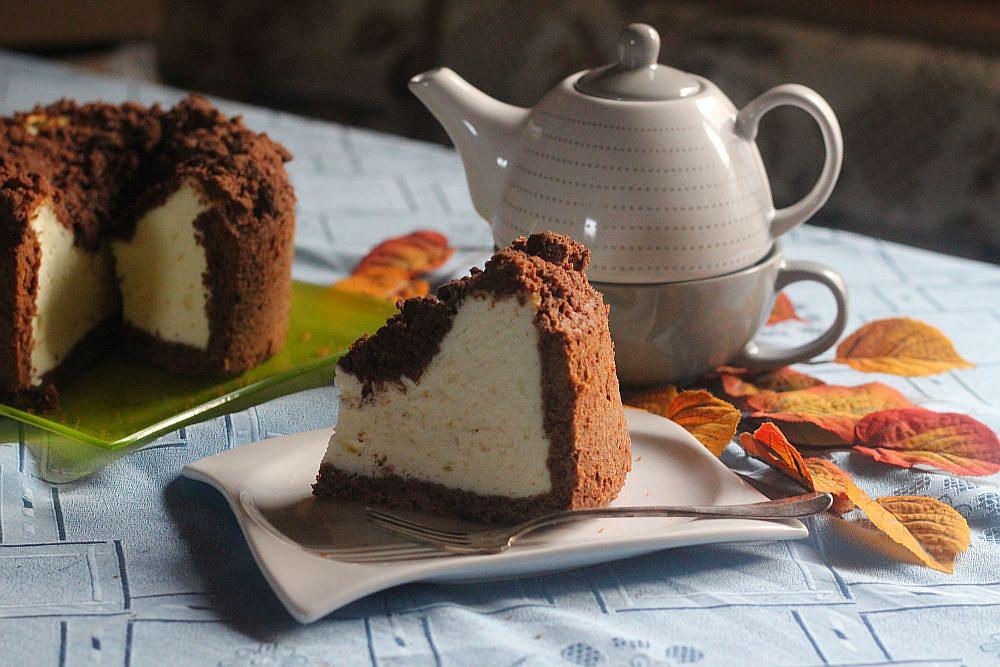 Tvarohový koláč s kakaovou drobenkou recept