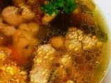 Hovězí vývar s játrovou rýží recept