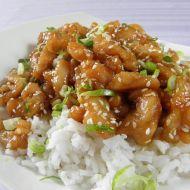 Pikantní kuřecí nudličky se sezamem recept