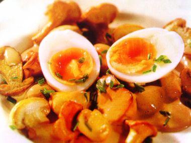 Houby s vejci nahniličko