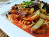 Italské špagety s baklažánem recept