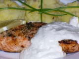 Losos s křenovým přelivem recept