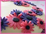 Květinový růžovofialový dort recept