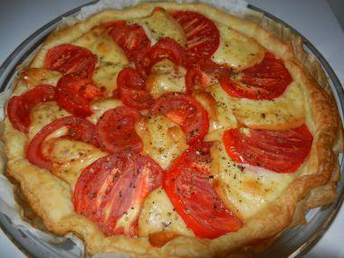 Rajčatový QUICHE s mozzarellou a rajčaty