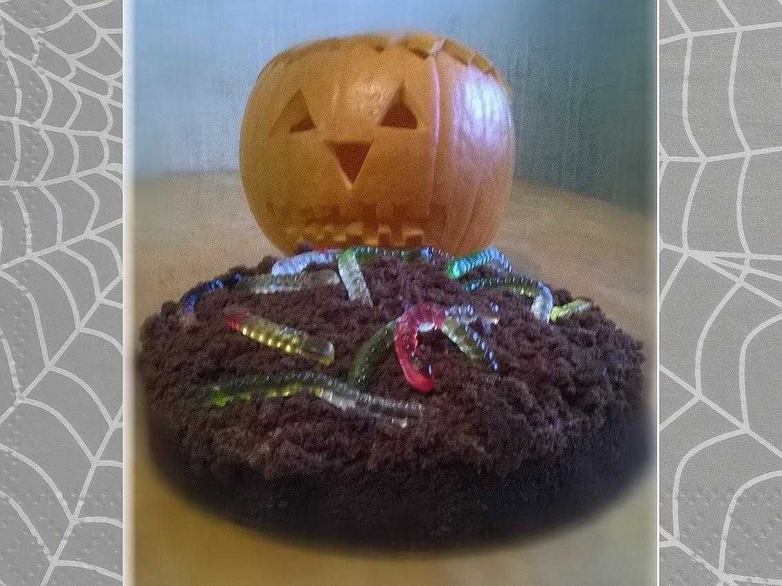 Halloweenský čokoládový dort recept
