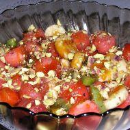 Ovocný salát s křupavým karamelem recept