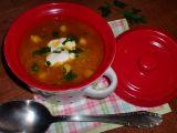 Polévka z červené čočky, cizrny a quinoi recept