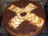 Lehký ovocný koláč s čokoládou recept