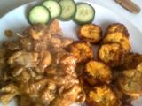Kuřecí kousky s plantainy recept