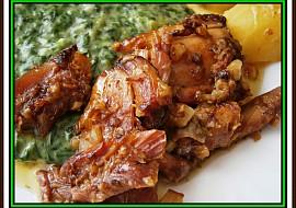 Uzená kuřecí stehnapečenáv papiňáku recept