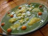 Špenátová polévka s mrkví a sýrovými noky recept