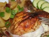 Pečené kuře s česnekovým překvapením recept