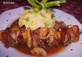 Pečené maso na jehle s delikatesní šťávou recept