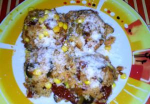Kuskus s cuketou, sušenými rajčaty, kukuřicí a parmezánem ...