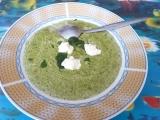 Špenátová polévka se žampiony recept