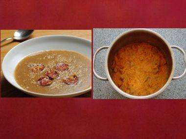 Oběd 1  Chlebová polévka a segedín