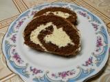 Kakaová roláda s karamelovým krémem recept