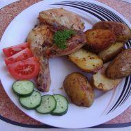 Kuře pečené s brambory recept