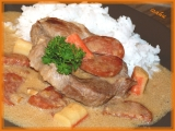 Krkovice s chorizem a surimi recept