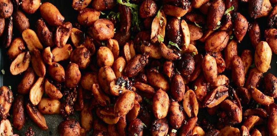 Pečené kořeněné burské oříšky