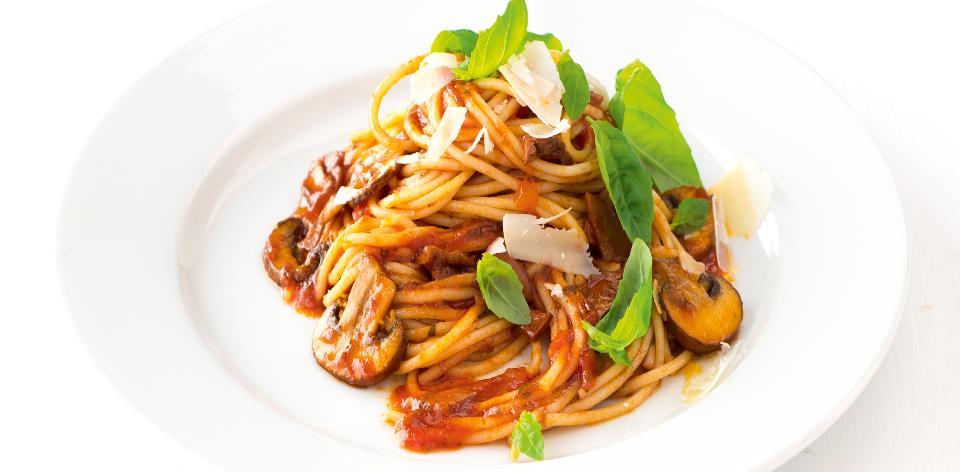 Špagety s houbami