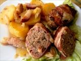 Anglické závitky ve valašských bramborách recept