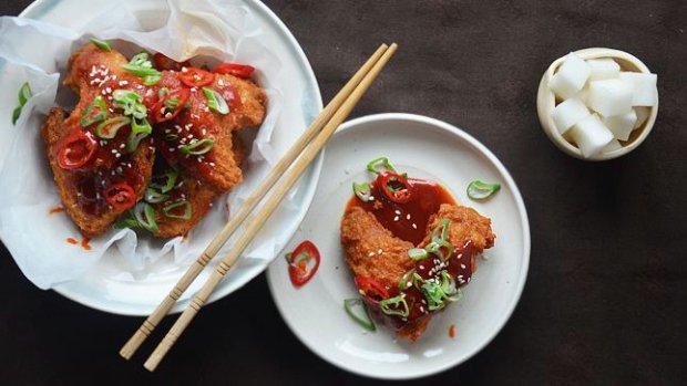 Korejské smažené kuře