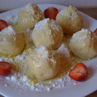 Bezlepkové tvarohové ovocné knedlíky recept