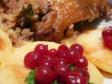 Sváteční kuře na jablkách recept
