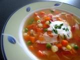 Zeleninová polévka se šunkou recept