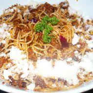 Špagety s mletým masem recept