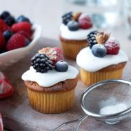 Borůvkové cupcakes s jogurtem recept