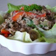 Čočkový salát s paprikami recept