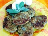 Cuketovo-houbové karbanátky recept