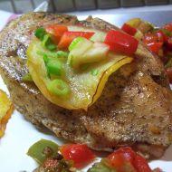 Kuřecí steak s jablky a zeleninou recept