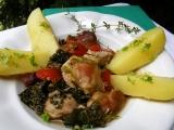 Vepřové na tymiánu s kapustou a rajčaty recept
